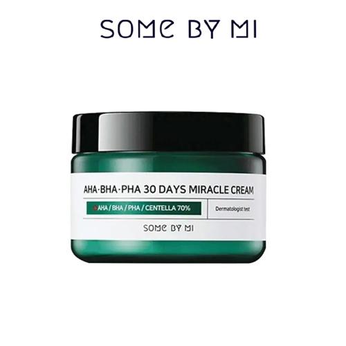 Kem Dưỡng Trị Mụn Some By Mi AHA-BHA-PHA 30 Days Miracle Cream 60g