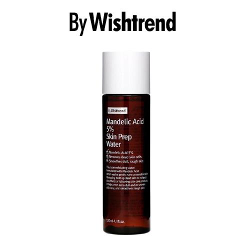 Nước Dưỡng Tẩy Da Chết, Cấp Ẩm Và Sáng Da By Wishtrend Mandelic Acid 5% Skin Prep Water 120 ml
