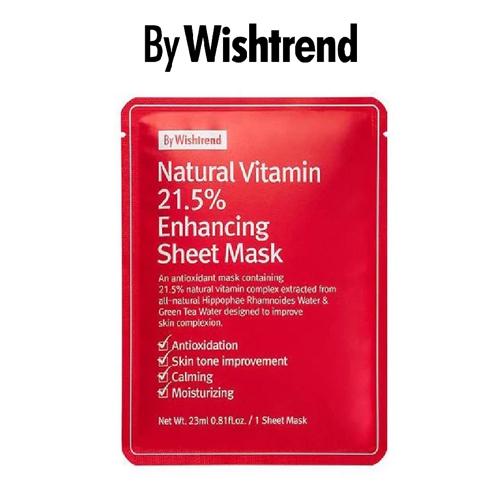 Mặt Nạ Giảm Thâm, Dưỡng Trắng By Wishtrend Natural Vitamin 21.5% Enhancing Sheet Mask 23ml